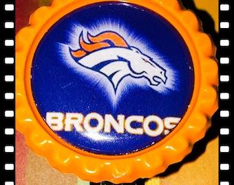 Denver Broncos Retractable ID Name Reel Badge Pull