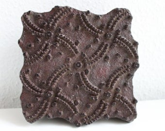 Antique wooden textile printing block