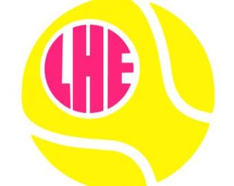 Softball with monogram