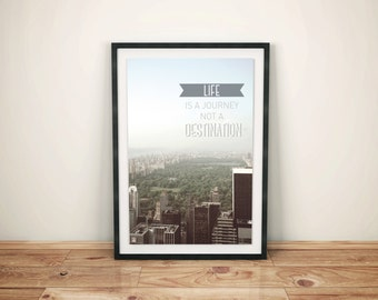 Poster: View Uptown New York