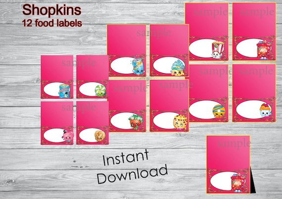 Gorgeous image throughout free printable shopkins food labels