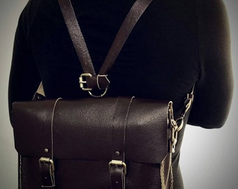 Leather satchel, leather backpack, mini leather satchel, mini leather backpack, leather messenger bag, mini leather messenger bag, bag
