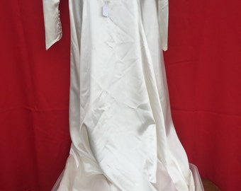 SATIN Wedding Gown HANDMADE by the bride for her 1951 'Big Day'!
