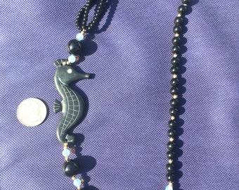 Judie Ingram Beaded Seahorse Necklace