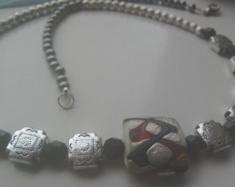Aztec style beaded necklace