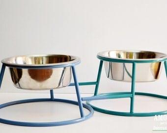 Double dog bowl holder