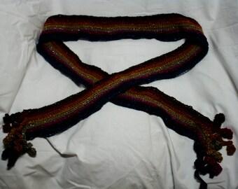 shimmery skinny scarf
