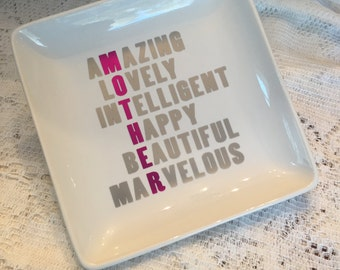 Jewelry dish, Jewelry tray for a special Mom