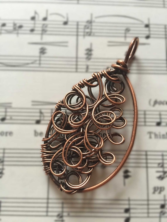 Wire Work Pendant from Karen J Jewelry