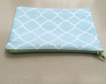 Baby Blue Simple Damask