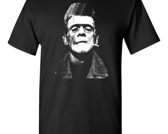Frankenstein Rockabilly Greaser T shirt  **FREE SHIPPING**