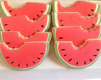 12 Watermelon Sugar Cookies