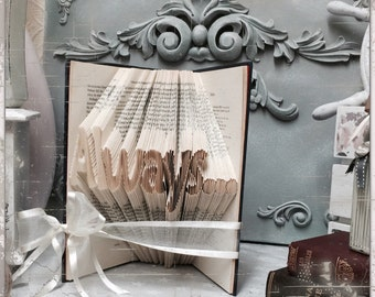 Folded book art - Always - book art
