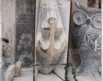 Anchor Silhouette folded book art