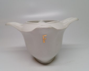 Apilco French Porcelain Gravy Separator - Dual Spot - Classic Whiteware