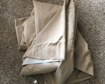 A Real Deal! 4+ Yards Beige Heavy-Weight Faux Suede Yardage,  A Full 52 Inches Wide, 3 LBS, Like New, Soft, White Backing, Inexpensive!