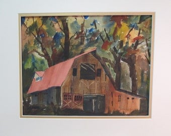 old BARN in the FALL of the year,LANDSCAPE Original By C.M.Anderson (andy)
