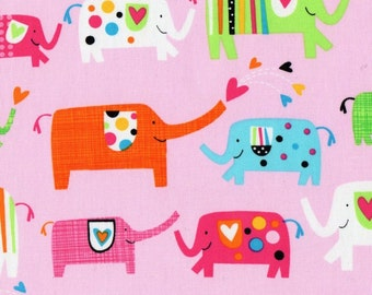 Elephant - HALF YARD - Timeless Treasures - Cotton Fabric - Quilting Fabric