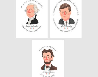Presidential Quote Prints - 3 pack