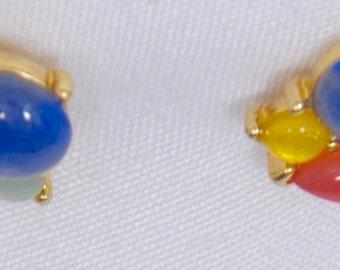 Pierced earrings marked Trifari
