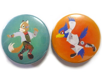 Super Smash Bros. - Star Fox Button Set