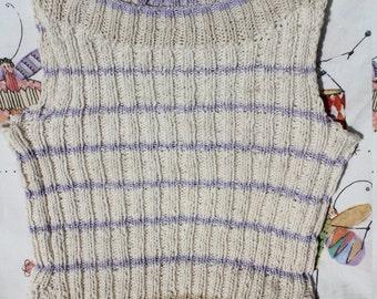 MILKA-violet,striped, white, top, M