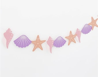 Sea Shell Banner Perfect for a Mermaid or Beach Party!