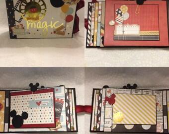 Mickey Mouse/Say Cheese/Disneyland Scrapbook Mini Album, Photo Album, Memory Book