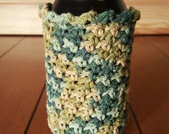 Crochet Can Cozy. Beer can cozy, soda can cozy. Camo, handmade.