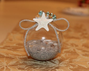 Christmas Ornament- Sand and Seashells