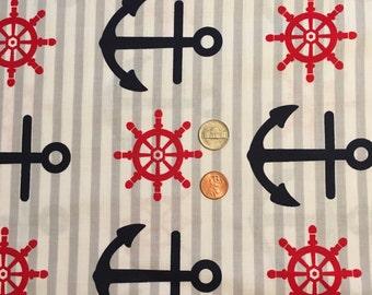 Anchor Print Pillow Case
