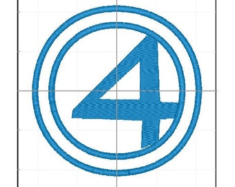 Fantastic 4 applique 4x4 5x7 6x10