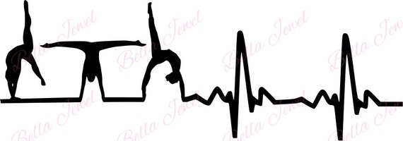 Gymnastic SVG heartbeat svg my heart beats for gymnastics