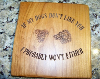 Dog Humor Wall Plaque