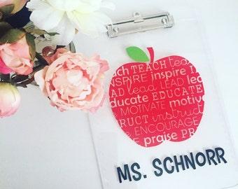 Apple Teacher Clipboard