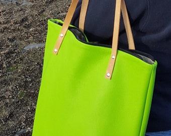 Handmade Leather Bag / Leather hand bag