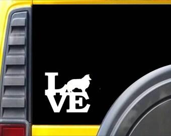 Sheltie Love Window Decal Sticker *F153*