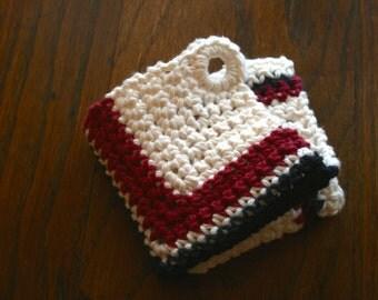 Looped Mitered Crochet Dishcloth