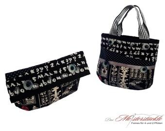 Clutch - bag with handle - make-up bag