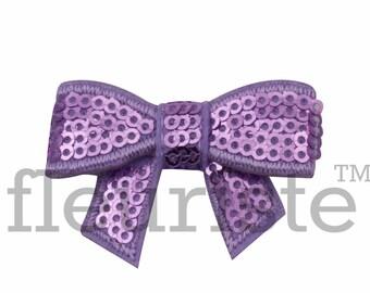 LAVENDER 2 inch Sequin Bows, Mini Sequin Bows, Mini Bows, Sparkly Bows, Fabric Bows, DIY Bows, Soft Bows, Wholesale Bows, Diy Headband