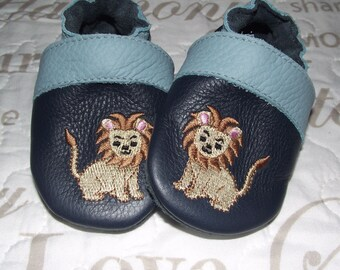 Personalizable Soft Sole Leather Baby Shoes With Different Patterns and Name Option