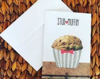 Stud Muffin 5X7 Greeting Card