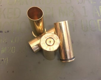 Bulk 44 Magnum Recycled Brass Bullet Casings - Cleaned & Polished - 50 and 100 Count Available - Reloading or Craft