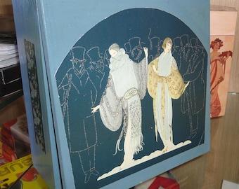 Box Decoupage Art Nouveau design