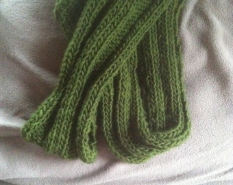 Beautiful Hand-knit Wool Infinity Scarf