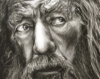 A3 Gandalf Portrait Drawing