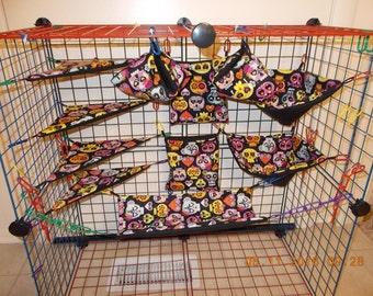 GIRLY SKULLS Sugar Glider 11 pc cage set