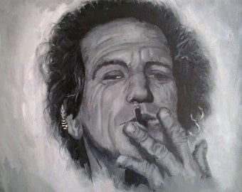 Keith Richards Oil Painting.