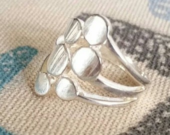 Sterling Circles Retro 70's Ring Size 7.5