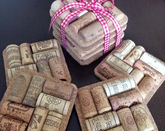 Wine Cork Coasters Set of 4